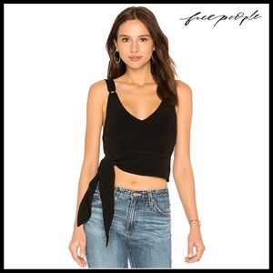 FREE PEOPLE SIDE TIE TANK CROP TOP
